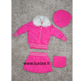 Ensemble a strass rose fille