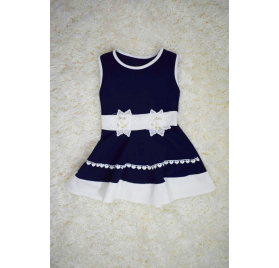 Navy blue dress with white flowers
