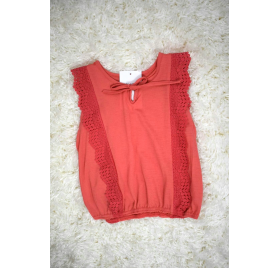 T-shirt coral girl with lace