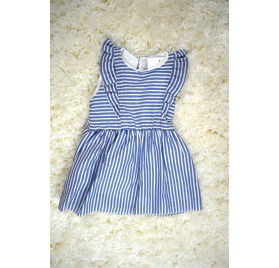 Sailor dress with cotton ruffles